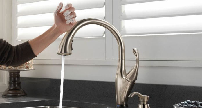 Delta Pulldown Faucets Touch2O Technology