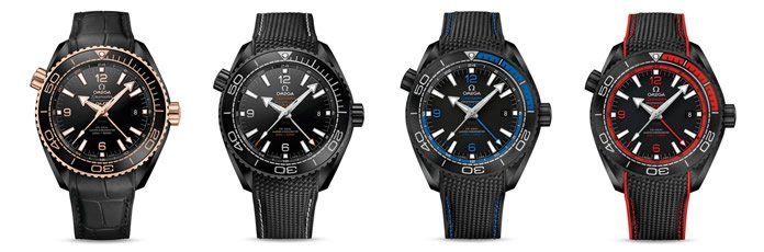 Omega Seasmaster Planet Ocean Deep Black Collection