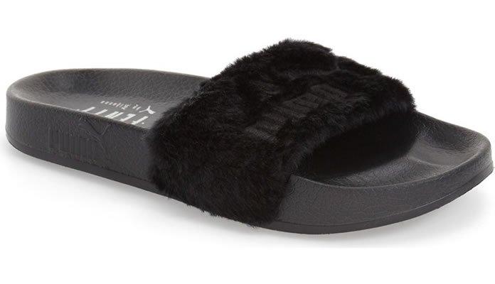 Ladies PUMA Leadcat Fenty Fur Slide Sandals