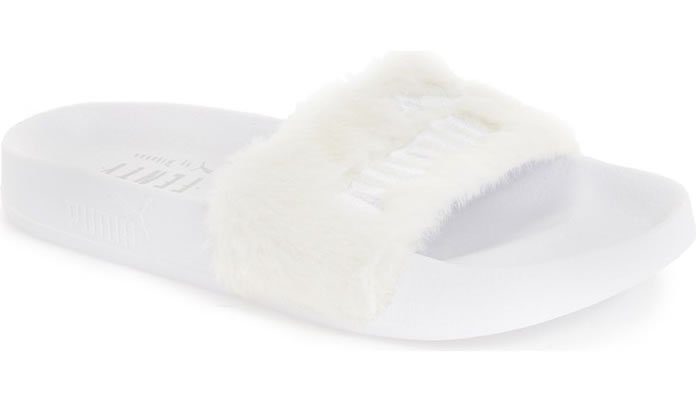 Ladies PUMA Leadcat Fenty Fur Slide Sandals