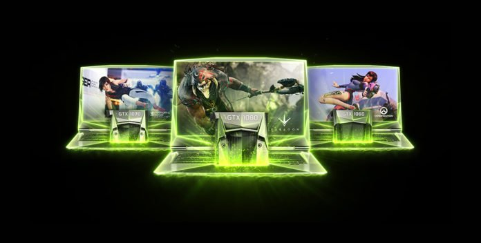 nVidia GeForce GTX 10 Series GPU Gaming Laptops