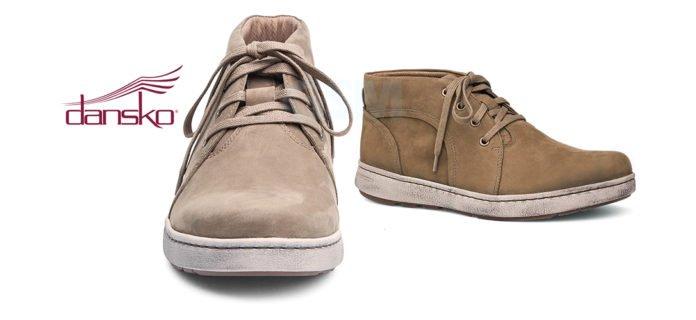 Dansko Virgil Khaki Milled Nubuck Leather Boots