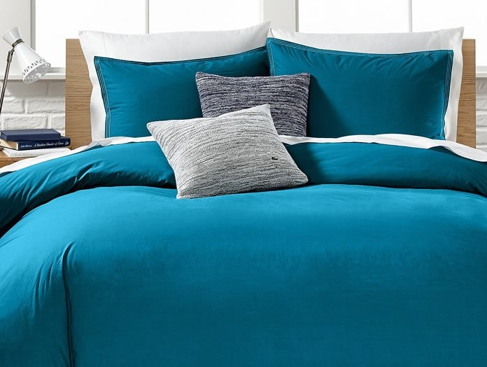 lacoste home washed solids collection bedding sets - gearstyle
