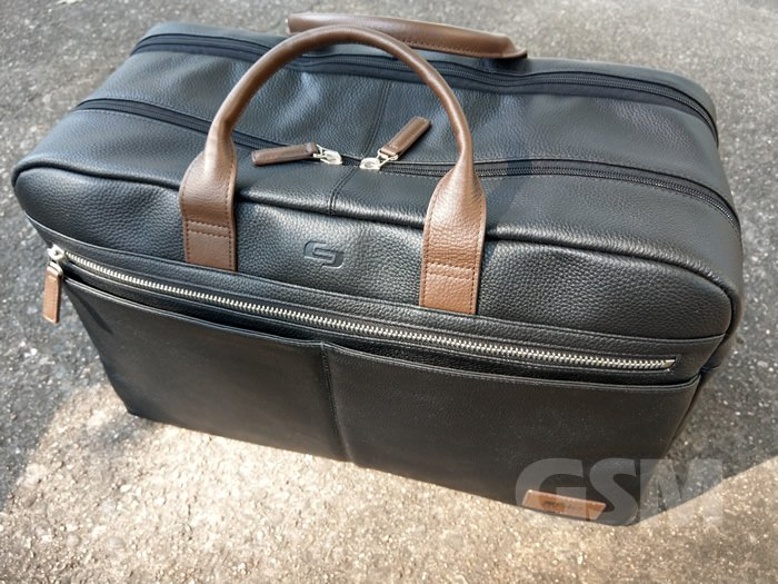 A Classy Weekender Bag, Solo NY's Bayside Leather Duffel