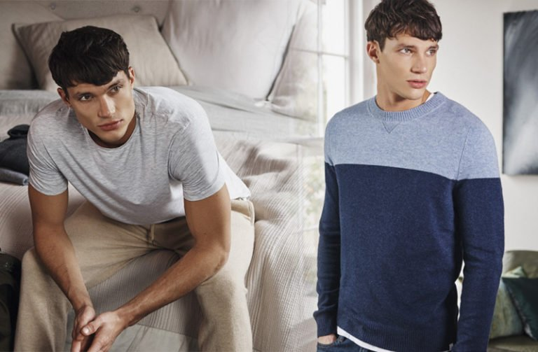 Derek Rose Perfect Men's Cashmere Sweater & T-Shirt Combo for Fall