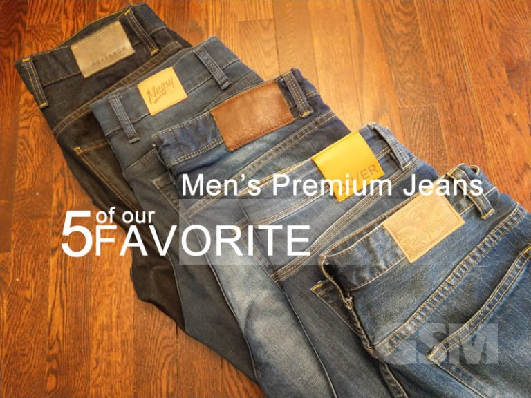 5 of our Fav Men's Premium Jeans: Modern denim worth checking out