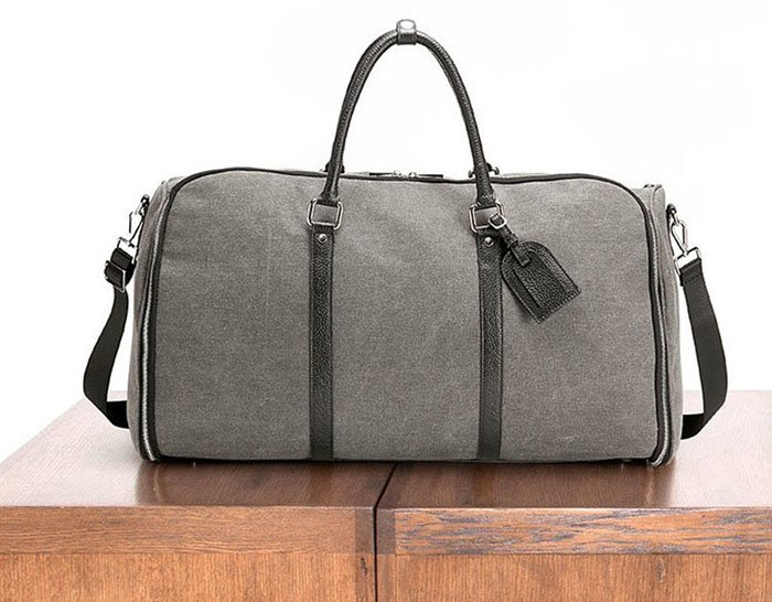 Canvas Weekender Garment Bag: Don't let the wrinkles get you down