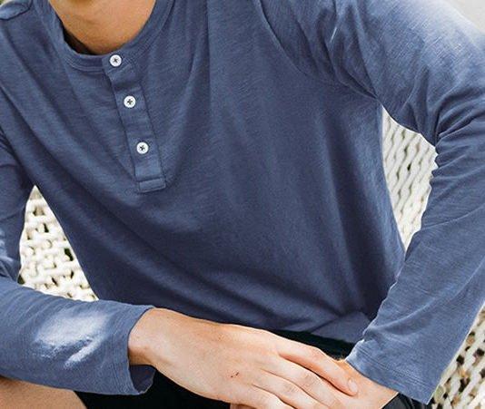 Men's Classic Short & Long Sleeve Henleys by Taylrd; It's Casual
