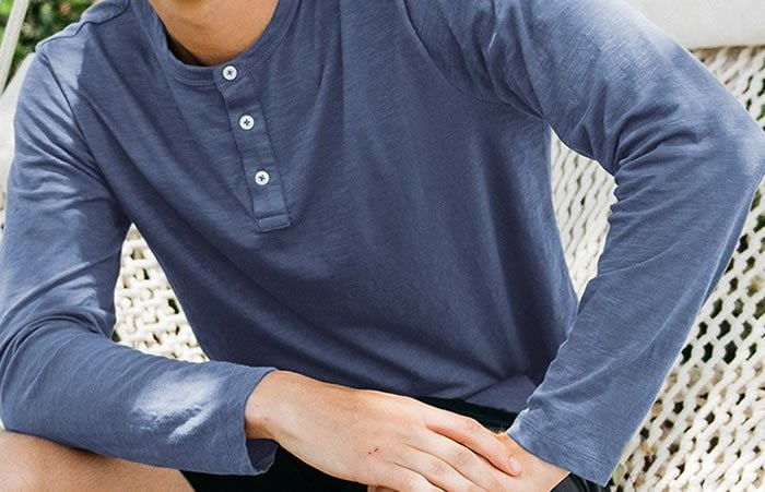 Men's Classic Short & Long Sleeve Henley Shirts by Taylrd: It's Casual