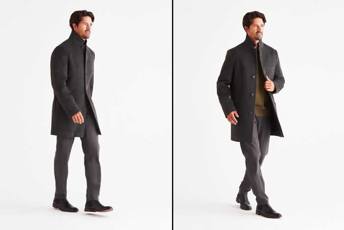 Bordin StormLux Wool Cashmere Overcoat: Style meet Performance
