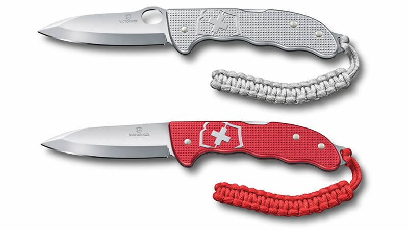 Victorinox Hunter Pro M Alox Knife Silver (top) and Hunter Pro Alox Red (bottom)